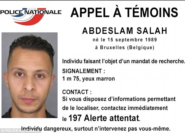 French police are hunting forSalah Abdeslam, a 26-year-old born in Brussels, wanted in connection to Friday's attacks in Paris. Police have warned that he is very dangerous