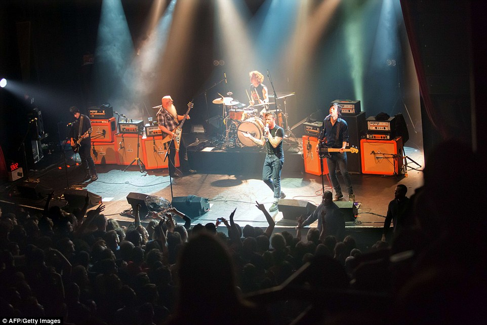 Fated concert: Eagles of Death Metal playing onstage at the Bataclan Theatre in Paris, just moments before ISIS gunmen burst into the venue