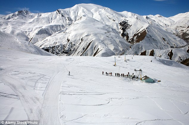 Slope style: Mr McNab recommends the skiing in Iran (pictured)
