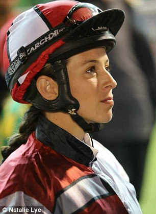Female jockey Natalie Lye came an inch from death in a