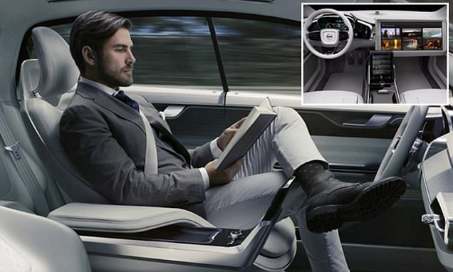 Volvo unveils concept interior for its selfdriving car