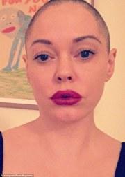 rose mcgowan shaves head
