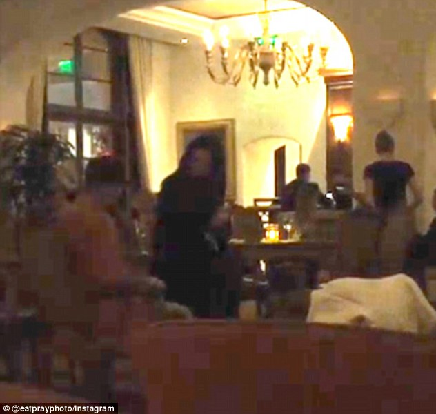 Sparking fresh romance rumours: Justin Bieber was seen serenading his ex-girlfriend Selena Gomez in a Los Angeles hotel bar on Friday night, hours before he was pictured partying with newly-single Kylie Jenner
