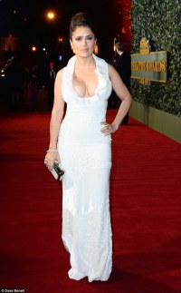Salma Hayek wears cleavage-enhancing gown at Evening ...