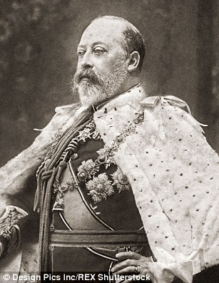 Edward VII who took over the throne from his mother Victoria in 1901