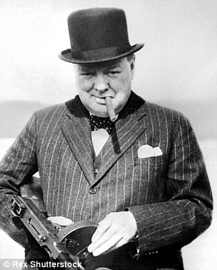 Wartime prime minister Sir Winston Churchill