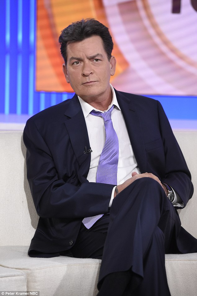 A video has reportedly surfaced showing Charlie Sheen performing oral sex on another man in 2011 - the same year he was diagnosed with HIV. The 50-year-old actor pictured announcing the diagnosis on the Today show last week