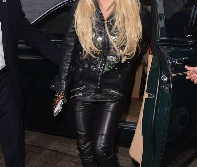 Biker Chic Channelling A Punky Biker Babe Look The Chart Topping Singer Oozed