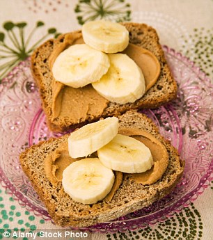 Peanut butter is a natural source of protein and helps maintain energy levels