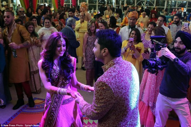 The groom's father Mr Mehta, also known as Yogi, posted on his Twitter account earlier in the week about the wedding calling the event a 'magical RORO wedding'
