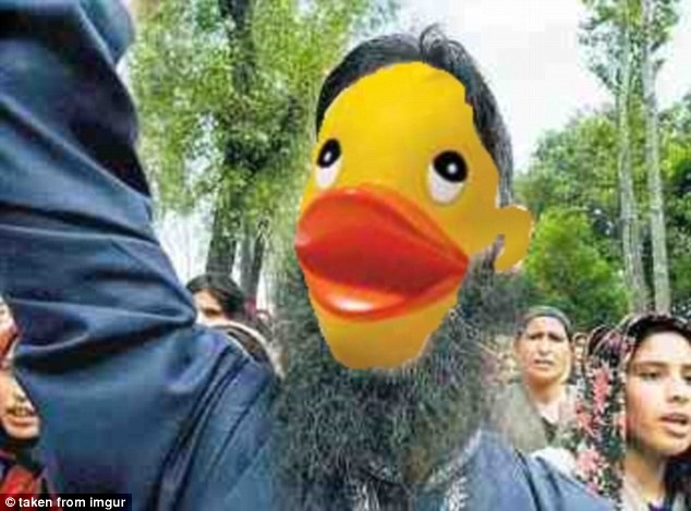 Here an extremist preacher is praising the word of a duck-led regime across the globe