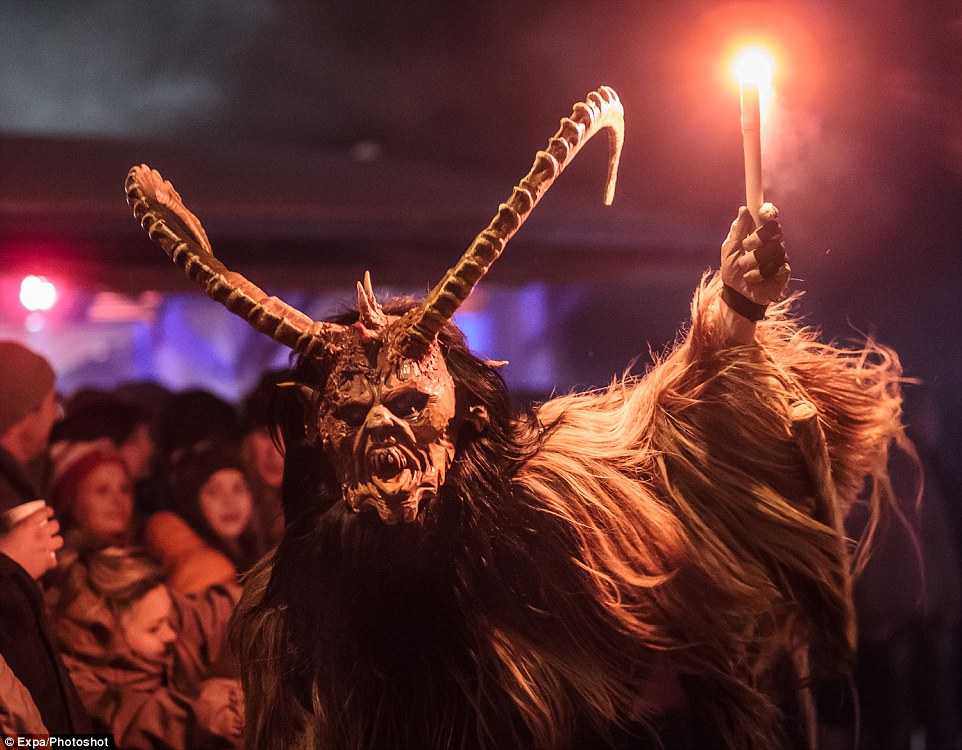 Santas Evil Sidekick The Krampus Prowls Through Austria