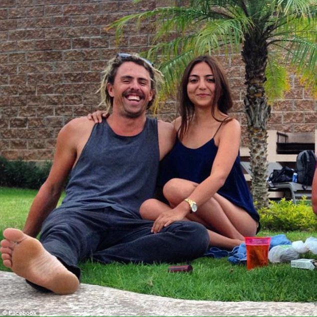 Mr Coleman's girlfriend, Andrea Gomez (right with her boyfriend), has 'pieces of his dreadlocks' to help authorities identify if one of the bodies found in a burnt-out campervan found in Navolato belongs to her partner