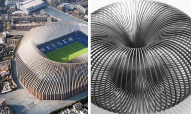 New Chelsea stadium design compared to a slinky a toilet