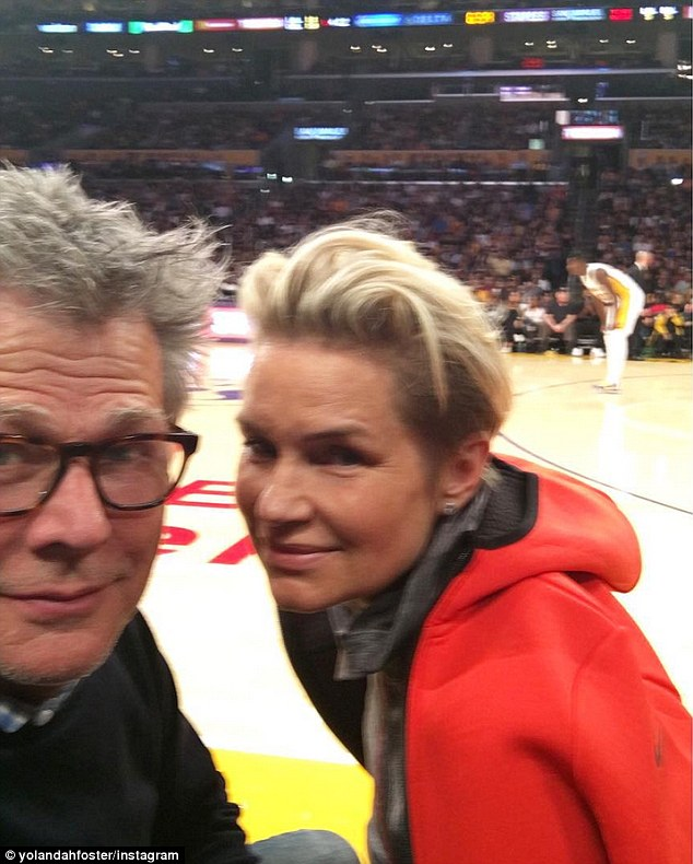 Last sighting: The couple were last seen together four weeks ago, when David celebrated his 66th birthday by watching the LA Lakers play with Yolanda