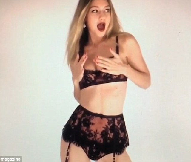 Festive Fun Gigi Hadid Performs A Seductive Dance In Her Underwear For Day  Of
