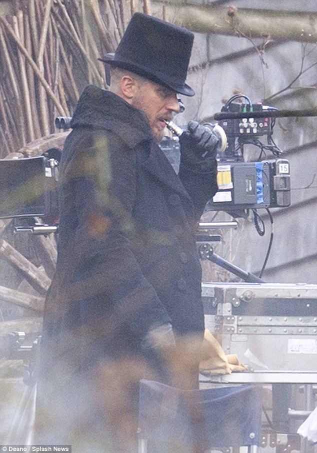 Tom Hardy Works Retro Look As He Films New Period Drama