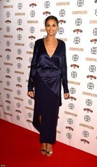 Alesha Dixon dons navy dress at the Cosmopolitan Awards ...