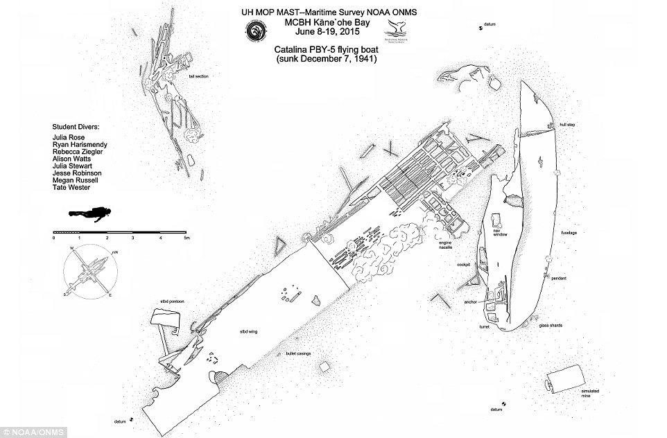 US Navy plane downed in Pearl Harbour under the sea in