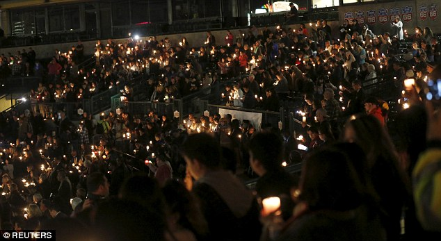 Thousands came out to honor the victims of the San Bernardino massacre at several vigils held in California on Thursday night