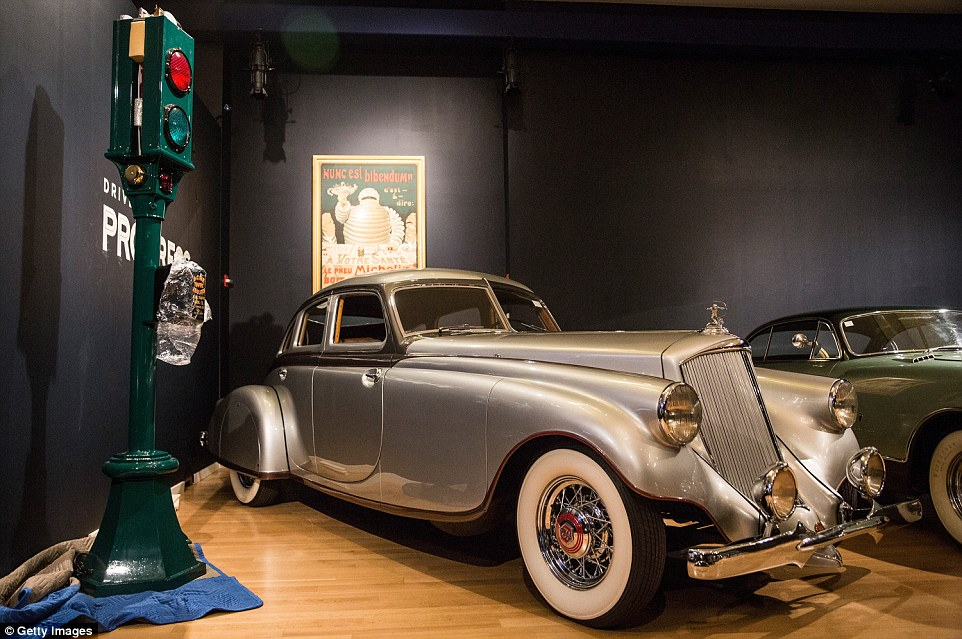 Vintage: A 1933 Pierce-Arrow Silver Arrow (pictured) is also among the 30 classic cars due to go on sale at an auction hosted by Sotheby's