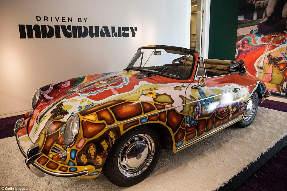 Groovy: This specially-designed and restored 1964 Porsche 356 C 1600 SC Cabriolet belonged to American singer-songwriter Janis Joplin, who first rose to fame in the late 1960s. It is now being offered for the first time since 1968 by her siblings Michael and Laura