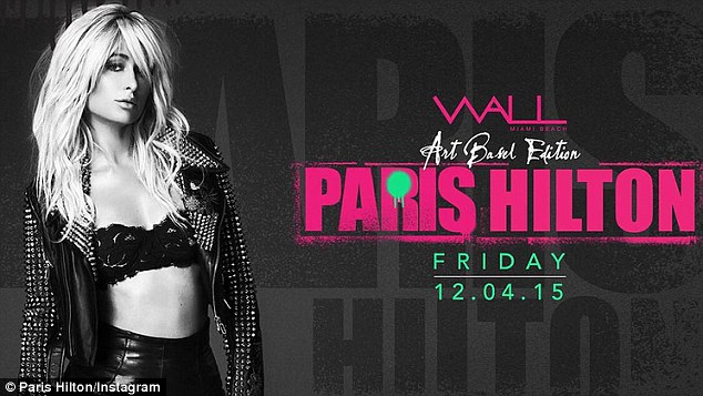 Eye catching: Paris promoted her Wall gig by posting two revealing promo shots on Instagram