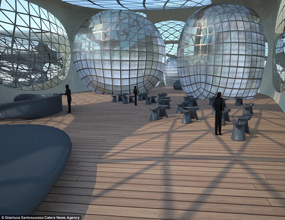 Το πολυτελές πλωτό παράδεισο θα αποτελείται από κάψουλες που στεγάζει ένα ευρύχωρο σαλόνι, δωμάτια και άλλες ανέσεις