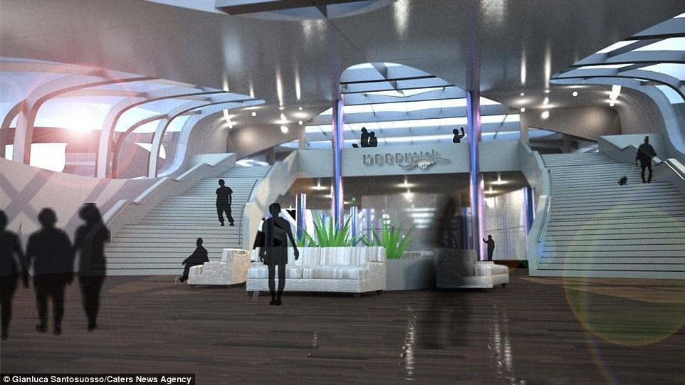 Σχεδιαστής Gianluca Santosuosso αναφέρουν ότι το ξενοδοχείο θα είναι μια εναλλακτική λύση για τα κρουαζιερόπλοια και μεταφέρουν τους επισκέπτες σε νέα και άγνωστα μέρη