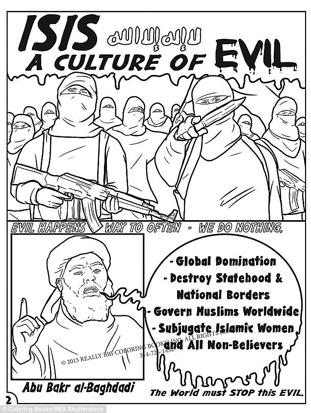 Anti-ISIS COLORING BOOK features Jihadi John and attacks
