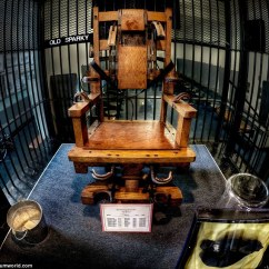 Death By Electric Chair Video Wooden Dining Us Prison West Virginia State Penitentiary Becomes Disturbing The Main Attraction At Is Old Sparky Which Was