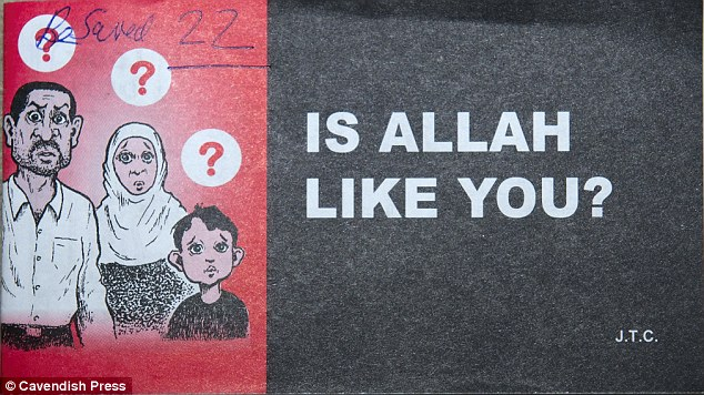 Accompanying the letter was this 23-page cartoon-strip booklet titled, 'Is Allah Like You?' showing a Muslim family with a cruel father who then becomes kind after turning to Christianity