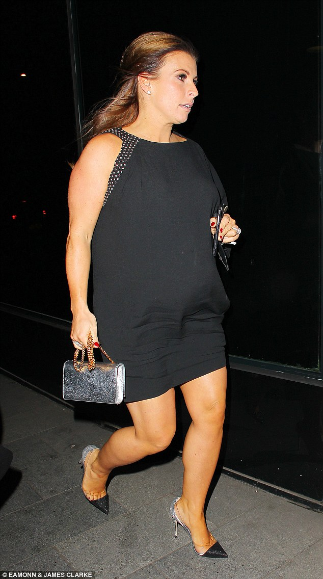 Coleen Rooney ditches maternity wear for WAGs Christmas