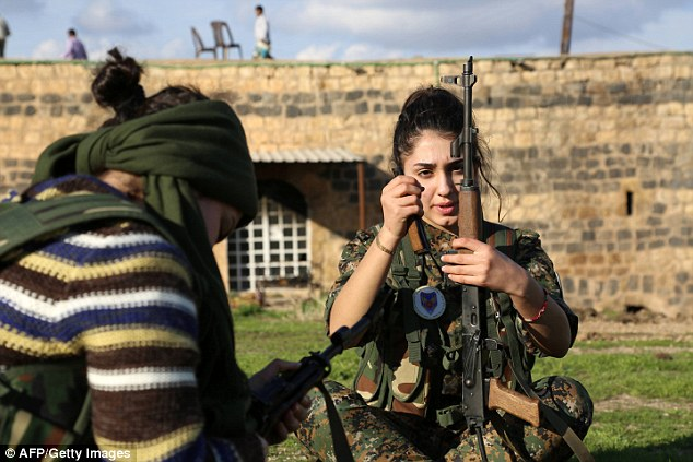 All of the fighters are members of the Syriac community in Syria, who follow Christianity