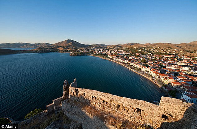 The naval incident occurred around 14 miles off the coast of Greek island Lemnos, pictured
