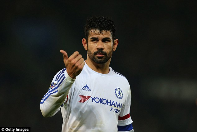 Diego Costa looks a shadow of the player he was in the early part of last season after arriving in England