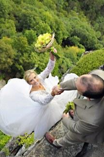 Wedding Photos On Ledge Cliffs
