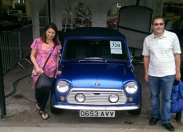 Mini enthusiasts: Rochelle and Richard Cohen purchased a Wood & Pickett Mini at auction