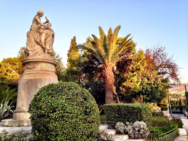 Another must-see sight is the statue of Lord Byron, which is located in the stunning National Gardens