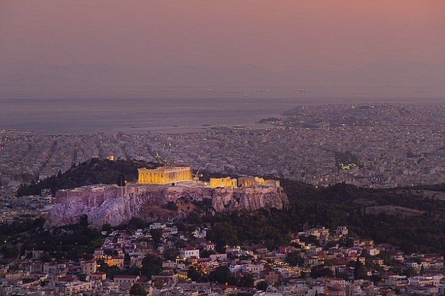 The Acropolis at night is an especially impressive sight, when the columns are lit up above the city below