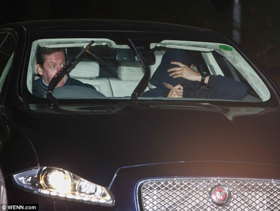 A man believed to be Jose Mourinho is driven out of the club's training ground shortly after his sacking