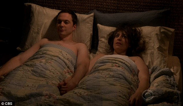 Birthday sex: Sheldon Cooper and Amy Farrah Fowler finally got intimate on Thursday's Star Wars-themed episode of The Big Bang Theory