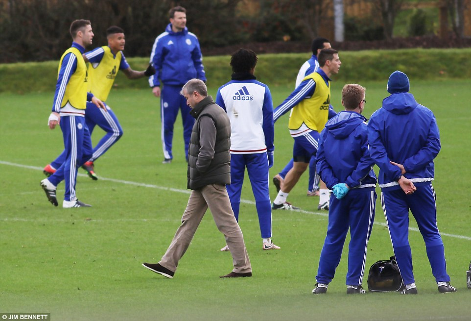 Image result for Conte insists no problem with Abramovich visiting training ground