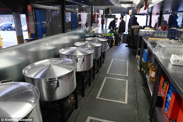 He hopes to share the Christmas spirit feed up to 15,000 refugees per day after converting a bus into a travelling kitchen