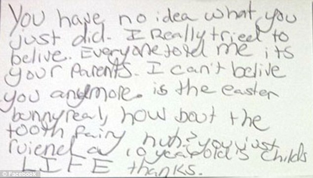 Maryland girl writes notes to her parents after they tell