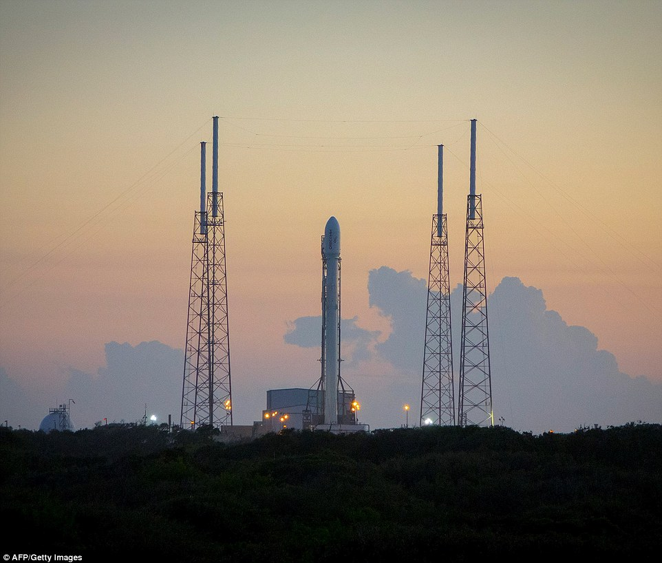 SpaceX was originally planning to launch its rocket on Saturday, but Musk similarly tweeted to say the team had been faced with 'engineering challenges.' It will be the first time the rocket (picutred) has flown in the past six months following an explosion in June when carrying supplies to the ISS