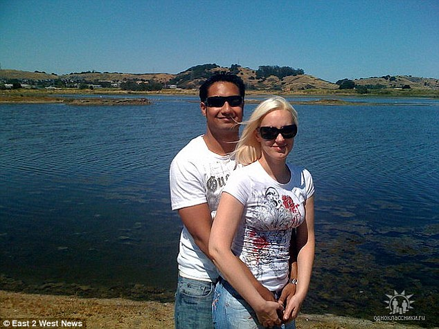 Other sister: Tatiana Chernykh with her husband Syed Raheel Farook. His brother and sister-in-law carried out the San Bernardino massacre