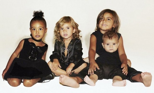 Their pride and joy: Kim Kardashian shared a Christmas card on Wednesday that featured only North, Penelope, Mason and Reign. Her son Saint was not included