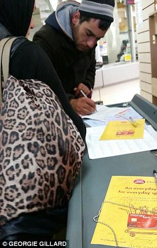 Transfer: Sending the money at the post office