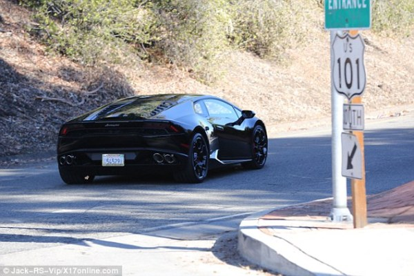 Fast:  It seems unlikely the car was a present for his on/off girlfriend Kylie Jenner - he bought her a Ferrari for her 18th